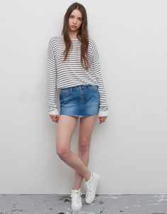 :MINIFALDA DENIM