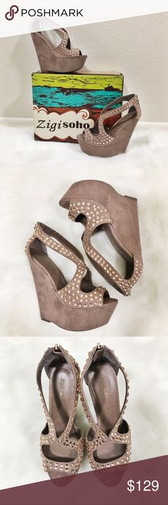 Zigi Soho Nifty Wedge Sandals Zigi Soho Nifty Wedge Sandals Size 8 Runs big-Could fit size 8.5/9  Brand new-Never worn before  Color: Pink (Looks taupe with a pink tone)   🔸🔸Will be shipped without shoebox🔸🔸 Zigi Soho Shoes Wedges