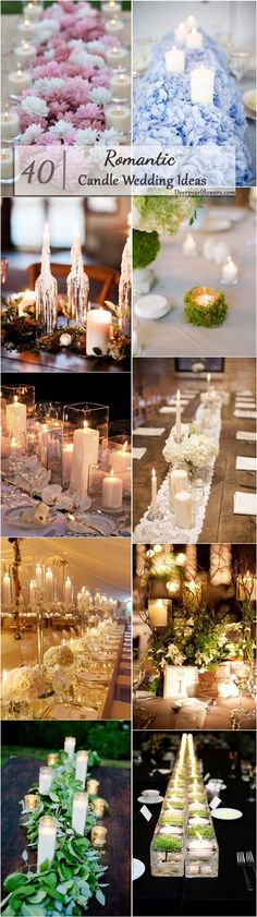 rustic wedding decor ideas with candles