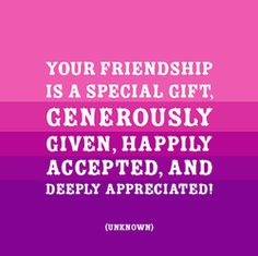 thank you for your friendship pink images - Google Search