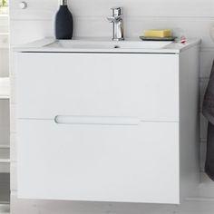 Hafa Sun Compact Håndvaskskab 610X550X387 mm Mat Hvid - Byghjemme.dk -Billig byg og online byggemarked