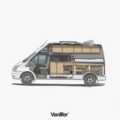 Layout from one of our latest Ford Transit custom conversions. This layout maxim… Ford Transit Camper Conversion, Sprinter Van Conversion, Camper Van Conversion Diy, Diy Van Conversions, Transit Custom, Van Living, Living Spaces, Campervan Interior, Expedition Vehicle
