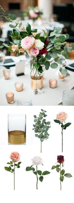 Romantic wedding centerpiece. Recreate this centerpiece with beautiful products from Afloral.com #afloral