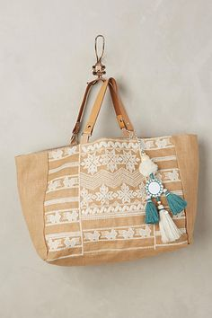 Leila Embroidered Tote - anthropologie.com