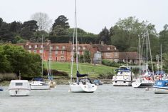 Arriving at Buckler's Hard from the water (Elizabeth Goudge, The Herb of Grace)