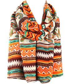 Hayaa Clothing - Tribal Maxi Hijab Big Scarf - Sweet Orange, $11.99 (http://www.hayaaclothing.com/tribal-maxi-hijab-big-scarf-sweet-orange/)
