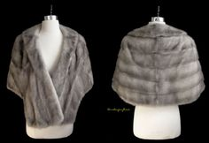 excellent vintage silver mink stole, only $219 at moxiefurs.com! *SOLD*