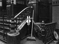 Brett Weston, Stairway and Broom, New York 1945, Vintage gelatin silver