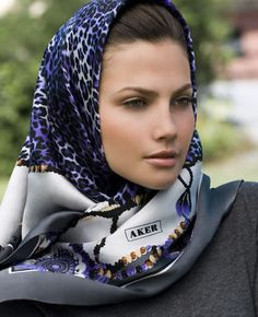 Aker head scarf, wrapped at neck