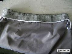 Мастер-класс по обработке верхнего среза юбки обтачкой
