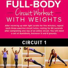Poster Workout: Full-Body Circuit With Weights, from @POPSUGAR. #fitness #workout #exercise