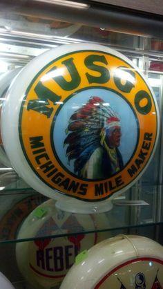Musgo Gas Globe - Original 1 piece glass, RARE!