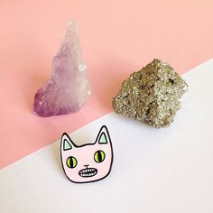 Cat enamel lapel pin