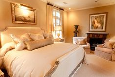 Luxurious Elegant Bedroom Ideas in the Contemporary and Traditional Style: Marvelous Bedroom Design With Nice Bed Design Beside The Lamps An. Master Bedroom Interior, Modern Master Bedroom, Home Bedroom, Bedroom Photos, Bedroom Ideas, Master Suite, Bedroom Decor, Warm Bedroom, Pretty Bedroom