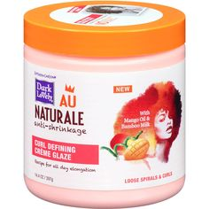 Dark and Lovely AU Naturale Anti-Shrinkage Curl Defining Creme Glaze 14.4 Ounce