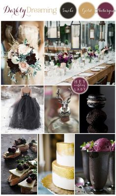 Darkly Dreaming – A Moody, Romantic Wedding in Smoke, Gold, and Aubergine Inspired by Hannibal
