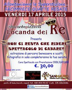 News di Spaghetti italiani - 17/04 - Porto di Baia - Bacoli (NA) - Locanda dei Re - Non ci resta che ridere (cena spettacolo)