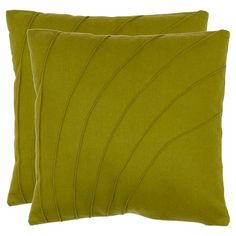 "Safavieh 2 Pack Flora Pillow - Green (18""X18"")"