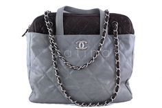 Chanel Gray Classic Portobello Executive Tote Bag