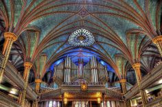 Inside the Notre-Dame Basilica of Montreal.