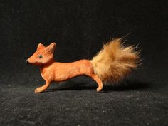 Kunstlerschutz Flocked Red Fox With Max by KimbersKollectibles