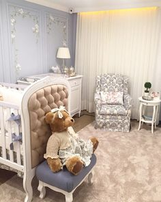 Perfect personal room decoration for you baby! Baby Boy Rooms, Baby Cribs, Girl Rooms, Girl Bedroom Designs, Kids Bedroom, Baby Room Decor, Bedroom Decor, Toddler Playroom, Decoration