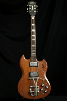1973 GUILD S-100 GUITAR W/ BIGSBY PALM PEDAL