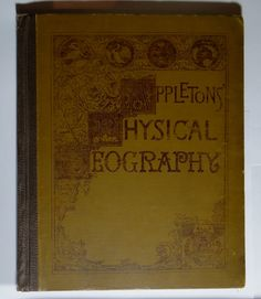 Buy 1887 Big Antique Physical Geography School Textbook Old Appleton Antiquarian Collectible Vintage Book with Illustrated Maps Diagrams Photos by speshals. Explore more products on http://speshals.etsy.com