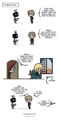 Pet Wendigo strip 13 - Grumbling by Algesiras.deviantart.com on @DeviantArt