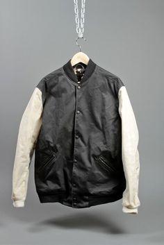 Waxed Varsity Jacket. Odd Fellow for Draught Dry Goods