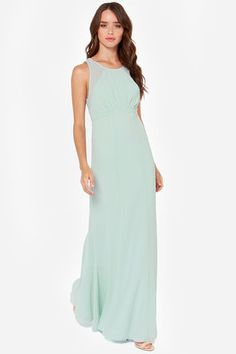 Beautiful Mint Dress - Maxi Dress - Bridesmaid Dress - $49.00