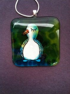 Penguin Pendant One Of A Kind Art Necklace by DomeLifeStudios, $18.00