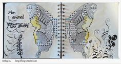 Animal totem, positiv'journal, edg-studio.net - Zentangles