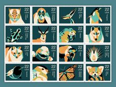 Stamp design for endangered species