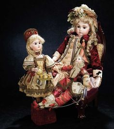 """Lot: French Bisque Automaton """"Bebe Russe"""" by Leopold Lambert"""