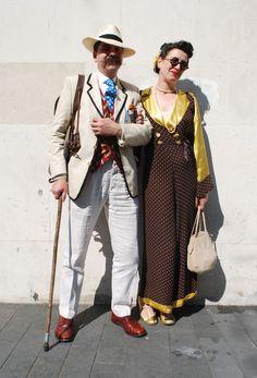 vintage couple street style