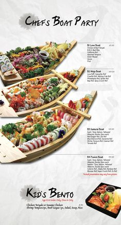 Fusion Sushi Japanese Restaurants - Manhattan Beach and Long Beach in California Cooking Sushi, Sushi Sauce, Sushi Boat, Sushi Menu, Japanese Menu, Types Of Sushi, Sushi Design, Exotic Food, Seafood Restaurant
