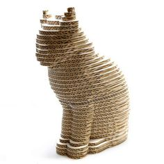 Gato de cartón - Cardboard cat-3D