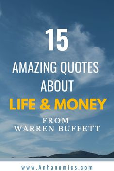 Warren Buffett has given us so many amazing quotes throughout his life. Advice that is great for any investor but also wonderful advice about life. This is 15 of our favorite quotes from Buffett. Number 14 is definitely the greatest. Stock Investing Apps, Investing In Stocks, Best Inspirational Quotes, Amazing Quotes, Money Quotes, Life Quotes, Investing For Retirement, Retirement Quotes, Investment Advice