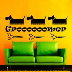 Wall Decals Grooming Salon Dog Cat Decal Vinyl Sticker Groomer Pet Shop Home Decor Bedroom Interior Design Window Studio Art Mural  Dear Buyers,