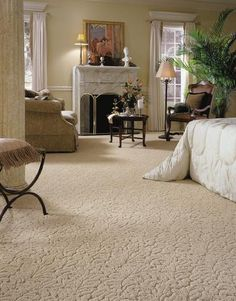 Carpeted Bedroom - love the plushness