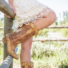 Beautiful western boots for women.