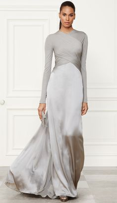 Ralph Lauren Fall 2014 Collection Fiona Evening Gown } LOLO