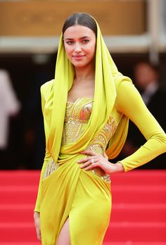 Irina Shayk in Atelier Versace, 2014 - The Most Daring Dresses on the Cannes Red Carpet - Photos