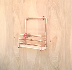 Copper Magazine Rack Industrial Design Modern Wall Mounted