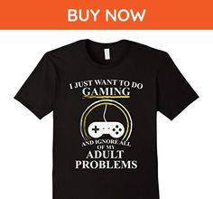 Mens Funny Cool Adult Video Gaming Gamer T Shirt Medium Black - Funny shirts (*Amazon Partner-Link)