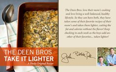 The Deen Bros. Lighter No-Crust Creamed Spinach Quiche on PaulaDeen.com