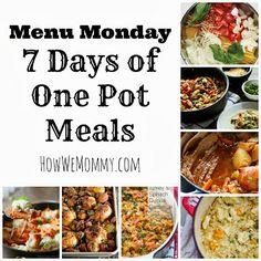 Menu Monday October 14, 2013 One Pot Meals