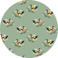 Charley Harper for Birch Organic Fabrics, Western Birds, Western Tanager