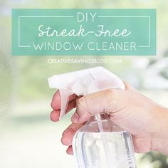 Say goodbye to Windex—this homemade window cleaner with vinegar works so much better than store brands, and costs just $.12 per bottle!